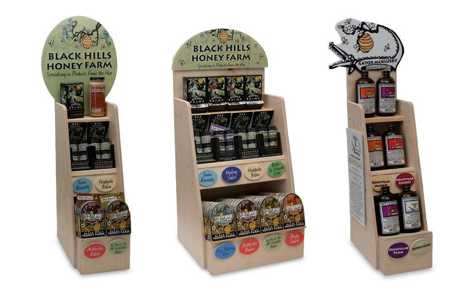 Black Hills Honey Farm retail display examples