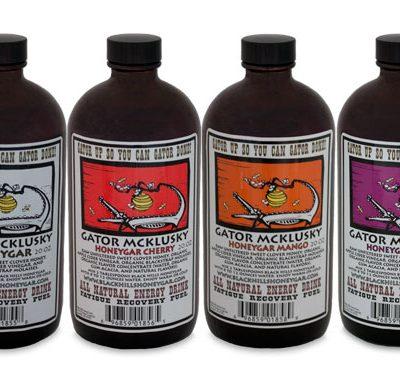 Four flavors of Honeygar All-Natural Energy Drinks
