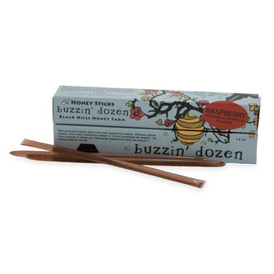 Buzzin' Dozen Raspberry Flavored Honey Sticks